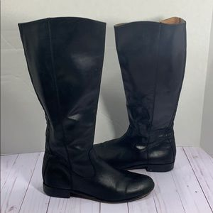 Kenneth Cole tall black leather boots